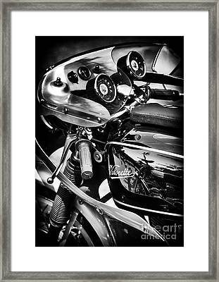 Velocette Cafe Racer Monochrome Framed Print