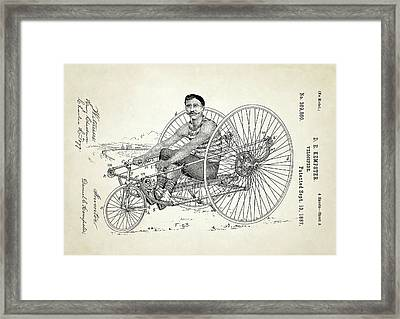 Velocipede Patent Framed Print by Us Patent And Trademark Office