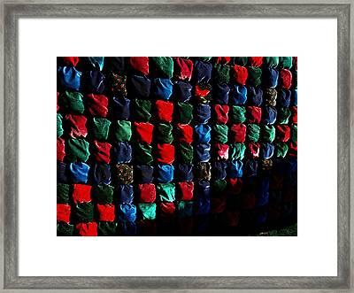 Velvet Biscuit Quilt Framed Print