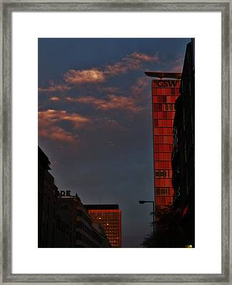 Velvet Clouds Framed Print by Sharon Costa