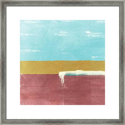 Velvet Horizon- Abstract Landscape Framed Print by Linda Woods