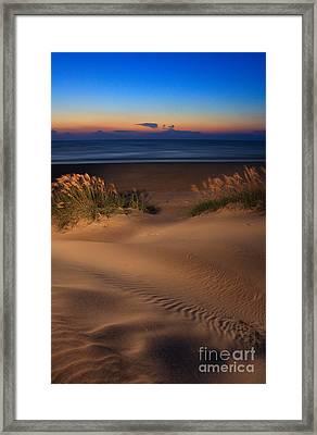 Velvet Morning On Pea Island Framed Print by Dan Carmichael