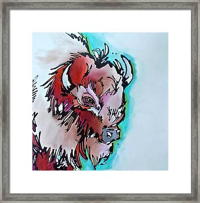 Velvet Stud Framed Print