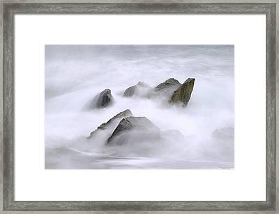 Velvet Surf Framed Print by Marty Saccone