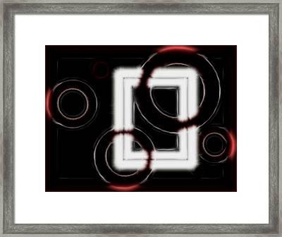 Velvet Touch Digital Painting Framed Print by Georgeta Blanaru