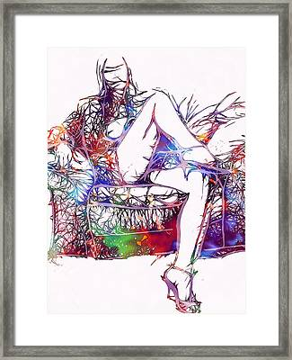 Venal Love Framed Print by Steve K