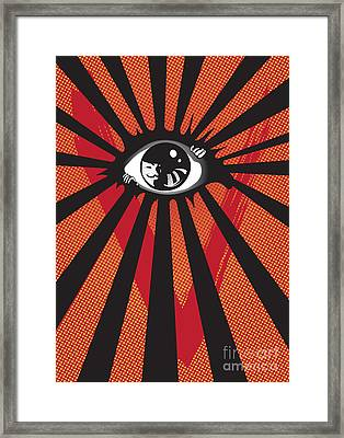 Vendetta2 Eyeball Framed Print by Sassan Filsoof