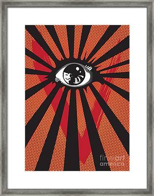 Vendetta2 Eyeball Framed Print