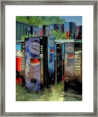 Vending Machine Graveyard II Framed Print