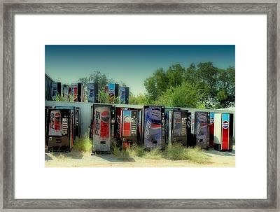 Vending Machine Graveyard Framed Print