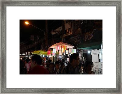 Vendors - Night Street Market - Chiang Mai Thailand - 011322 Framed Print by DC Photographer