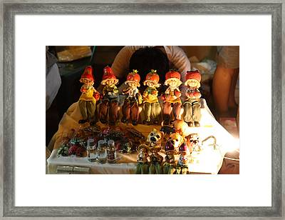 Vendors - Night Street Market - Chiang Mai Thailand - 011329 Framed Print by DC Photographer