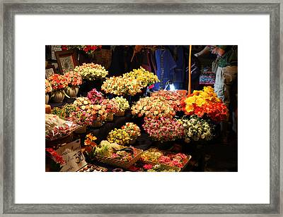 Vendors - Night Street Market - Chiang Mai Thailand - 011333 Framed Print by DC Photographer
