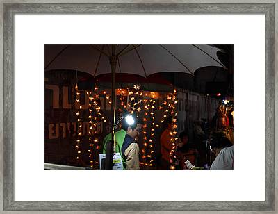 Vendors - Night Street Market - Chiang Mai Thailand - 011334 Framed Print