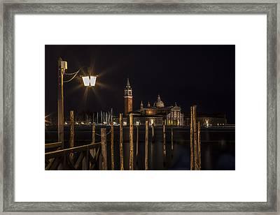 Venice San Giorgio Maggiore At Night Framed Print by Melanie Viola