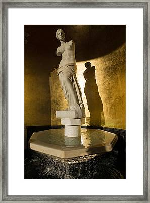 Venera And Her Shadow Framed Print by Georgia Mizuleva