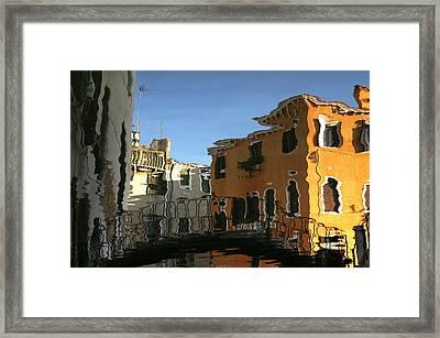 Venetian Bridge Framed Print by Graham Hawcroft pixsellpix