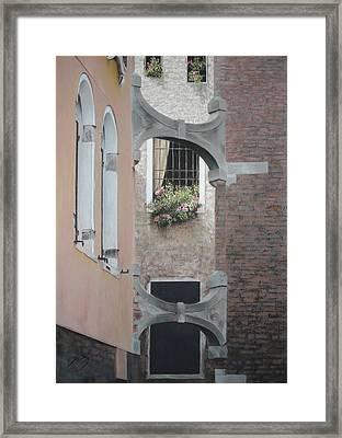 Venetian Buttresses - Pastel Framed Print