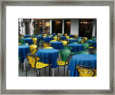 Framed Print featuring the photograph Venetian Cafe by Robin Maria Pedrero