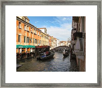 Framed Print featuring the photograph Venetian Canal by Joe Winkler