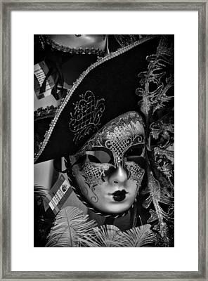 Venetian Carnival Mask Framed Print by Tom Bell