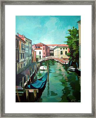 Venetian Channel 2 Framed Print by Filip Mihail