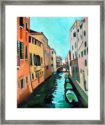 Venetian Channel Framed Print by Filip Mihail