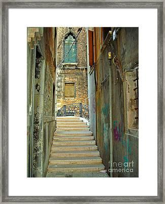 Venetian City Of Bridges Framed Print