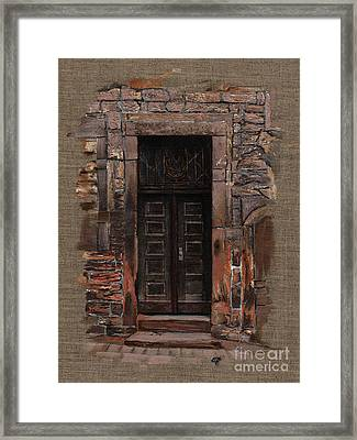 Framed Print featuring the painting Venetian Door 02 Elena Yakubovich by Elena Yakubovich