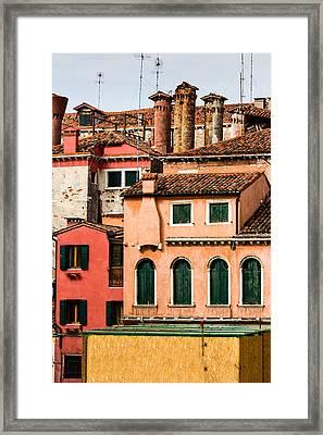 Venetian Facade Framed Print