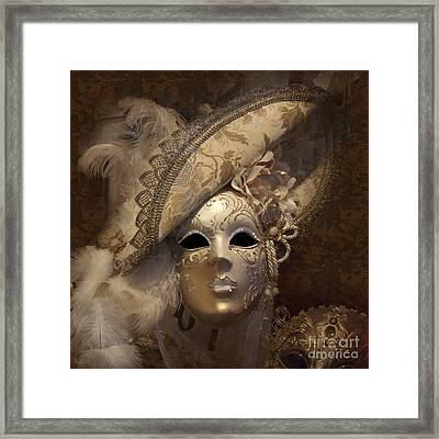Venetian Face Mask F Framed Print by Heiko Koehrer-Wagner