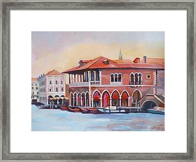 Venetian Fish Market Framed Print by Filip Mihail