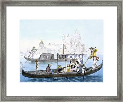 Venetian Gondola, From Vedute Dei Framed Print by Giovanni Battista Cecchini