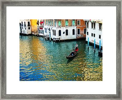 Venetian Gondola Framed Print
