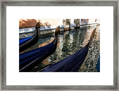 Venetian Gondolas Framed Print by Georgia Mizuleva