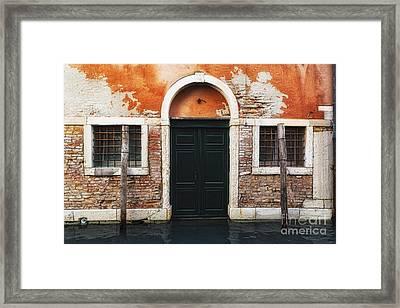 Venetian House Entrance Framed Print by George Oze