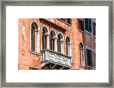 Venetian Houses In Italy Framed Print