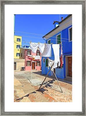 Venetian Life Framed Print by Ernst Cerjak