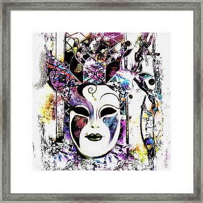 Venetian Mask Framed Print by Barbara Chichester