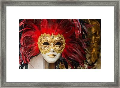 Venetian Mask Framed Print by Hans Engbers