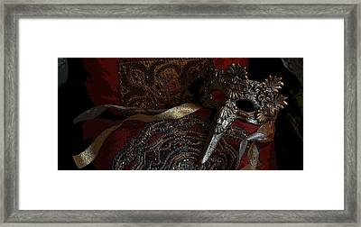 After The Carnival - Venetian Mask Framed Print