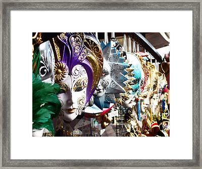 Venetian Masks 1 Framed Print by Ellen Henneke