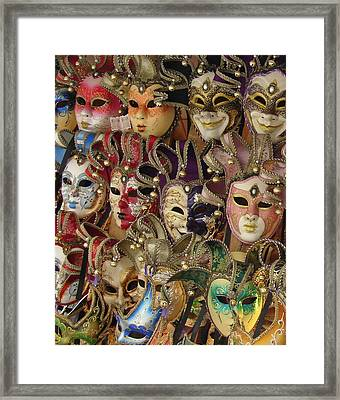 Framed Print featuring the photograph Venetian Masks by Ramona Johnston