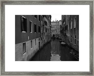 Framed Print featuring the photograph Venetian Monochrome Bw by Walter Fahmy