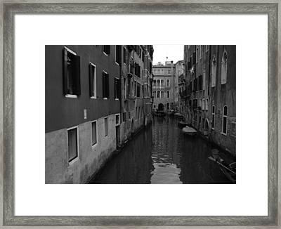 Venetian Monochrome Bw Framed Print