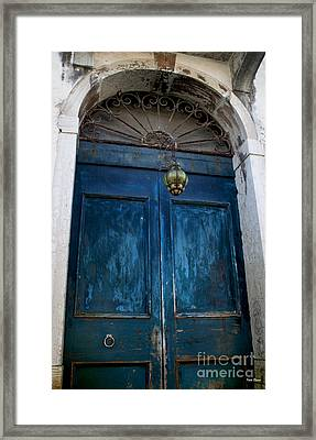 Venetian Old Blue Door Framed Print by Ivete Basso Photography