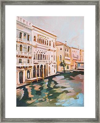 Venetian Palaces Framed Print by Filip Mihail