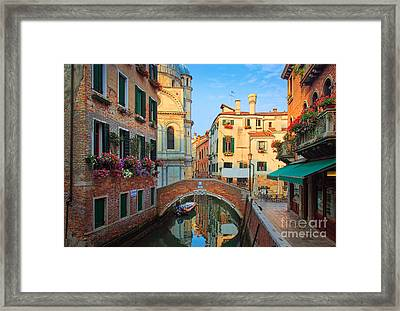 Venetian Paradise Framed Print by Inge Johnsson