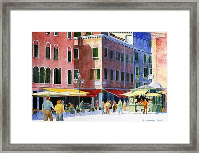 Framed Print featuring the painting Venetian Piazza by Roger Rockefeller