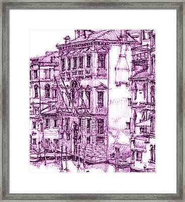 Venetian Purple House Framed Print